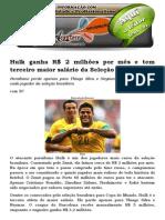 Hulk ganha R$ 2 milhões por mês e tem terceiro maior salário da Seleção