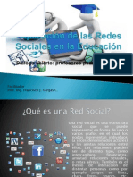 Aplicación de Las Redes Sociales en La Educación