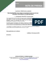 NP. 040-14 MML Mejora La Pavimentación de La Av. Universitaria Con Metropolitana