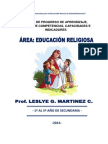 Mapas de Progreso de Aprendizaje Para Comprensión Doctrinal Cristiana Por Edades Correspondientes y Para Cada Uno de Los Niveles