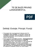 Concepte de Bază Privind Managementul