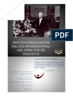 Institucionalización Del Dia Del Director de Orquesta