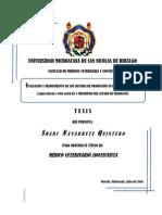 Evaluacion y Mejoramiento de Los Sistemas de Produccion en Pequenos Rumiantes Capra Hircus y Ovis Aries en 3 Municipios Del Estado de Michoacan- Parte 1