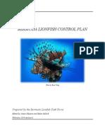 Bermuda Lionfish Control Plan