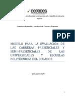 3 -Modelo Genérico Carreras Esquema Matricial
