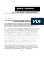 Sen. Carla Nelson (R-Rochester) Comments on Senate Passage of Bonding and General Fund Investment Appropriations