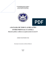 COSTA - Batalha de Toro e Relações Entre Portugal e Castela MA (2011)