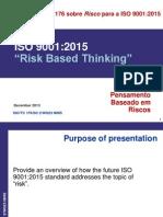 A visão da ISO sobre Risco para a ISO 9001:2015