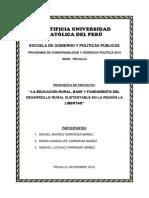 Programa de Gobernabilidad y Gerencia Politica Proyecto