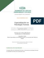 Especializaci_n en Psicolog_a Forense _Contenidos 2014_ -Posgrados UCES