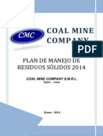 Plan de Manejo de Residuos 2014