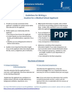 Guidance for Letters of Recommendation