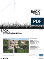 BackYard Rowhomes Andersonville Chicago Brochure