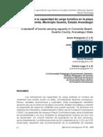 Evaluacion de La Capacidad de Carga Turistica Playa Conomita, Mcpio. Guanta, Edo. Anzoategui, 61 Pags.