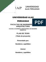 Formato Plan de Tesis Alas 2013