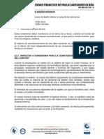 Tema N°2.2. Condiciones Internas de Diseño