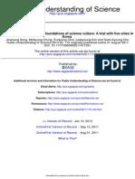 Public Understanding of Science 2013 Song 110 21