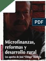 Microfinanzas, Reformas y Desarrollo Rural, Los Aportes de José Badivia
