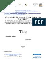 Template Lucrare Disertatie - 2014