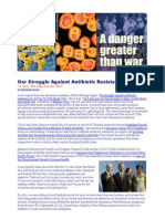"Struggle Against Antibiotic Resistant Bacteria ""A War We Will Never Win"""