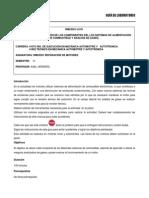 1.- Identificación y Ubicación de Los Componentes de Los Sistemas de Alimentación de Combustible y Análisis de Gases