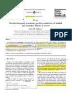 Diferencias de Produccion de Cafe Bajo Sombra y Sol Brasil 2004