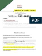 Escuela de Arte Superior de Diseño, Estudios de GRADO.