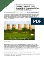 Inquinamento Ambient Ale e Consumi Energetici Ecco 5 Benefici Della Vegetazione Diffusa Nell Ambiente Urbano