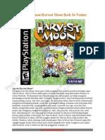 Buku Panduan Harvest Moon Back to Nature Versi Indonesia