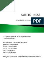 A formação de substantivos (sufixo -ness)