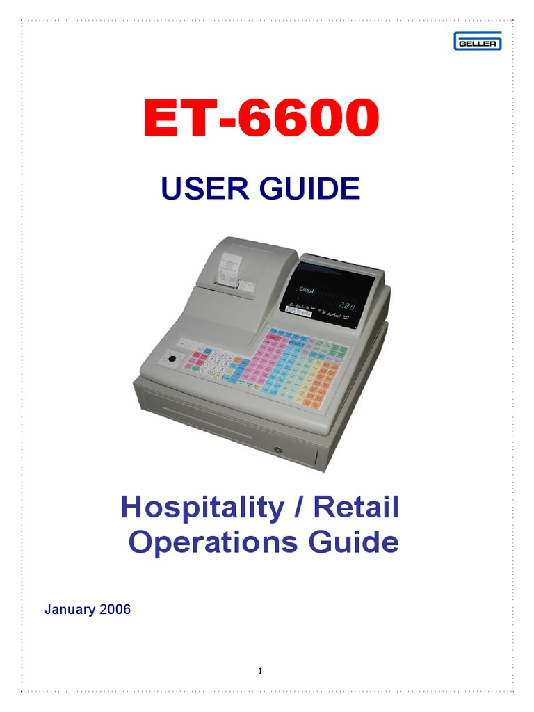 Geller ET-6600 Quick Setup Guide | Computer Keyboard | Financial Transaction