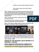 House of Lies (2014) Season 3 Review & TV Preview - David L. $Money Train$ Watts, FuTurXTV & HHBMedia.com - 2-20-2014