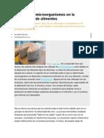 Usos de Los Microorganismos en La Elaboración de Alimentos.