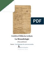 Leibniz - Monadologie