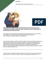 La Eucaristia y La Santisima Virgen Maria