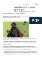 military operation launched to locate kidnapped nigerian girls   world news   theguardian
