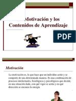 La Motivación y Los Contenidos de Aprendizaje