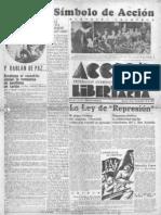 Acción Libertaria, Nº 23. Noviembre 1936