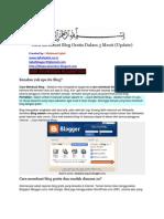 Cara Membuat Blog Gratis Dalam 3 Menit