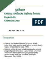 Sistem Penglihatan (Keratitis, Hordeulum, Blefaritis, keratitis, Konjuktivitis,Kekeruhan Lensa)