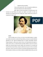 Biografía de Honoré de Balzac