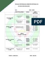 Jadual Peperiksaan Semesta 1 2014