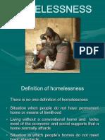 Homelessness - Estudo