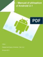 Android Manuel Utilisation