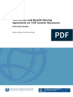 The Access and Benefit-Sharing Agreement on Teff Genetic Resources  -  Facts and Lessons