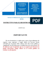 Intrucciones Preinscripcion SS