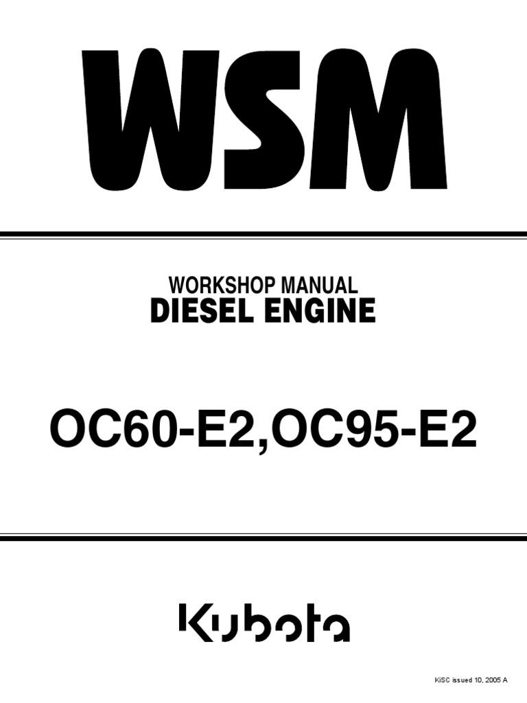 Kubota_OC60_Diesel_Engine_Workshop_Manual.pdf | Internal Combustion Engine  | Pump