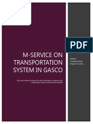 M-service on Transportation System in GASCO | Mobile Phones