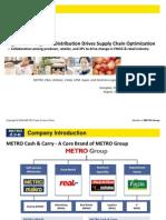 ECR AP Award Integration of Logistics Distribution Drives Supply Chain Optimization by Metro, PG, Unilever