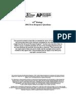 AP Bio Essay 2002 A